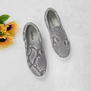 New Snake Print Loafer Flats